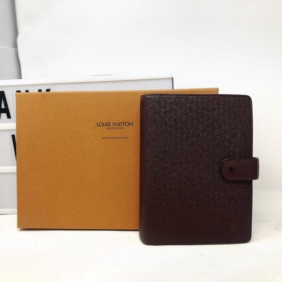 Louis Vuitton Handbags - SoldLouis Vuitton Taiga Leather Agenda Cover MM